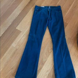 Red Engine Dark Turquoise Flare Cords Size 30